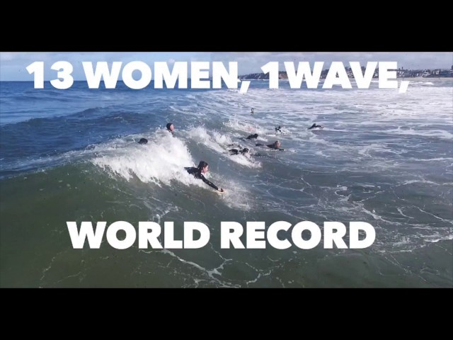 13 Women, 1 Wave, World Record
