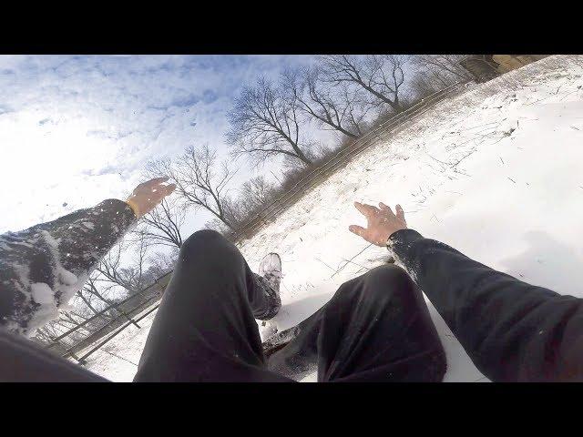Snowy parkour