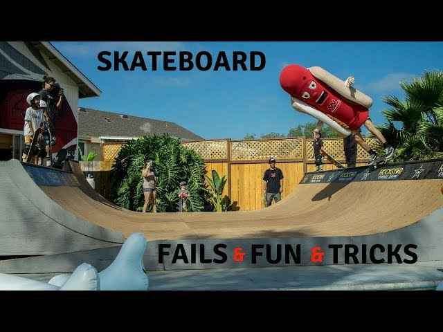 MIXS OF SKATEBOARD FAILS, FUN, TRICKS 2018! #1