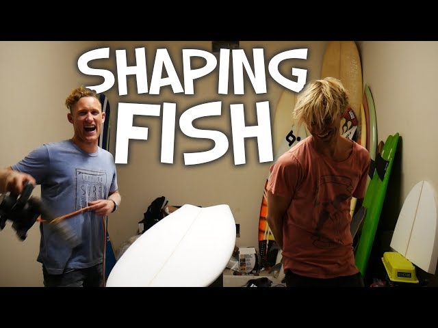 SHAPING A FISH SURFBOARD (the actual shaping proce
