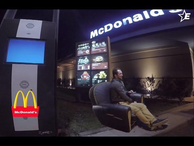 Express Sofa In McDonald's - MacDo Canapé Expresse