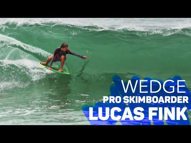 Champion Skimboarder ** LUCAS FINK ** at THE WEDGE