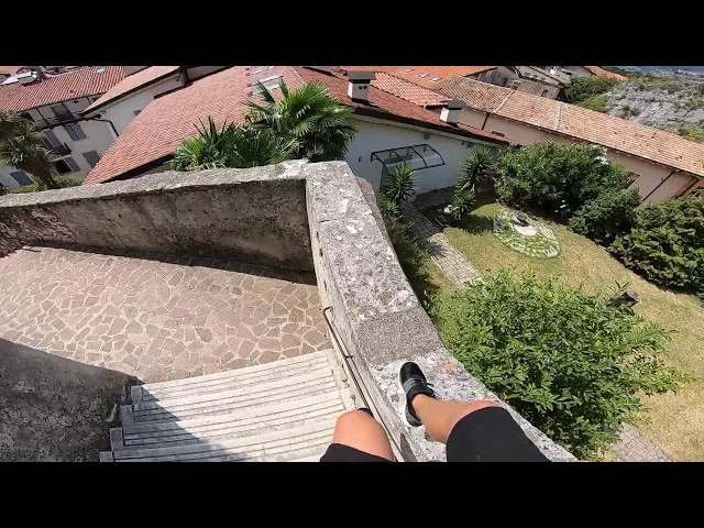 POV Parkour at Lago di Garda in Italy