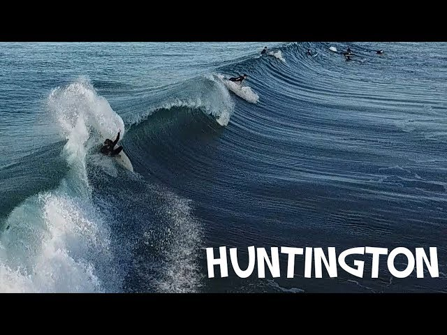 HUNTINGTON BEACH SURFING [drone]