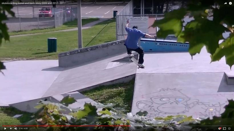 back at skateboarding