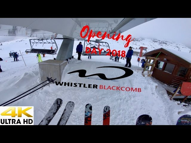 Whistler Blackcomb Opening Day In 4K