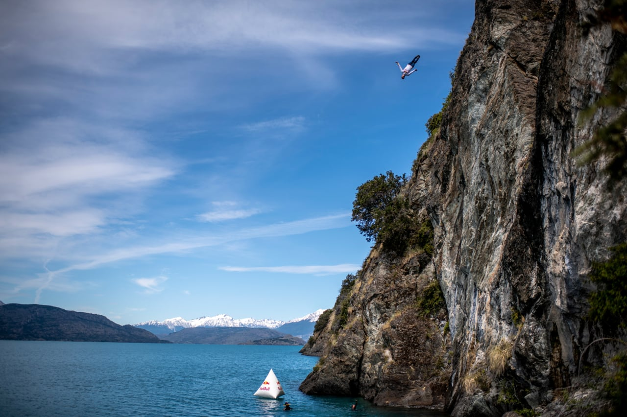 Cliff Diving Champions explore Patagonia - Action