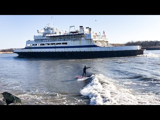 Jamie O'Brien Tanker Surfing In New York