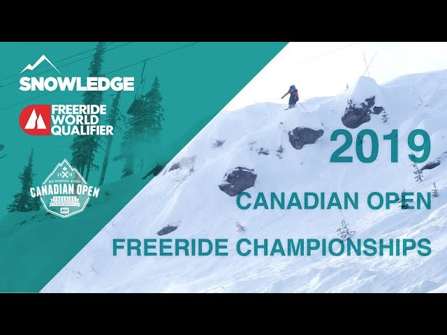 2019 Canadian Open Freeride Championships at Red