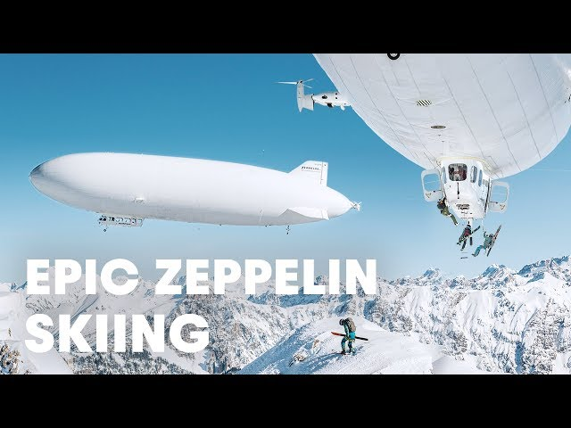 Watch freeriders abseiling from a Zeppelin