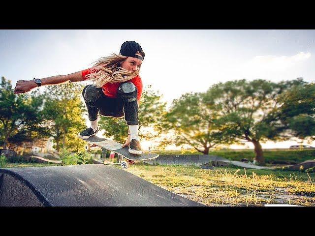 SKATERS GIRLS MOST WTF TRICKS - Skate Girls Compil