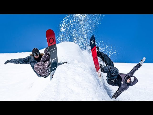 Fun Spring Snowboard in Laax - Switzerland