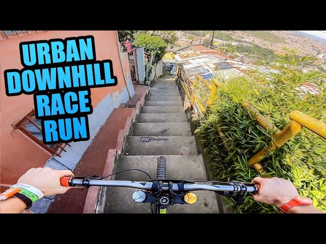 Sam Pilgrim Urban Downhill Race In Columbia