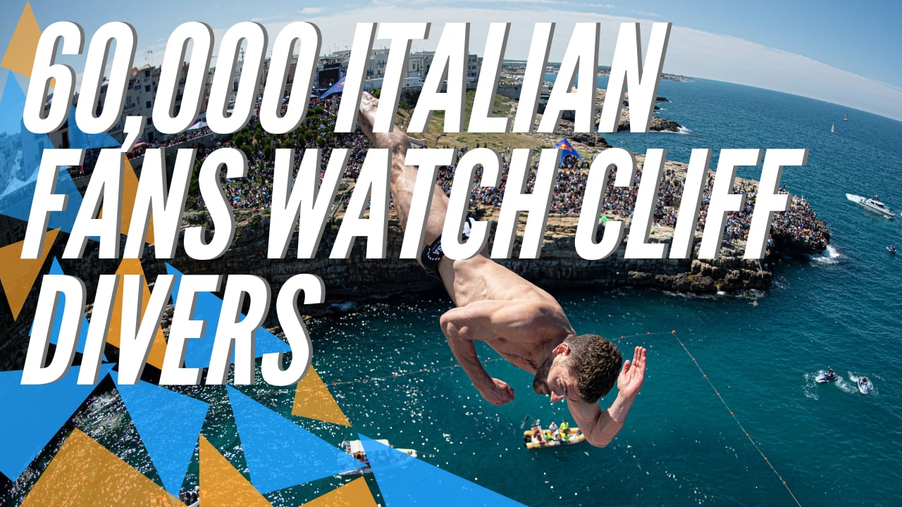 60,000 fans watch Cliff Diving in Italy