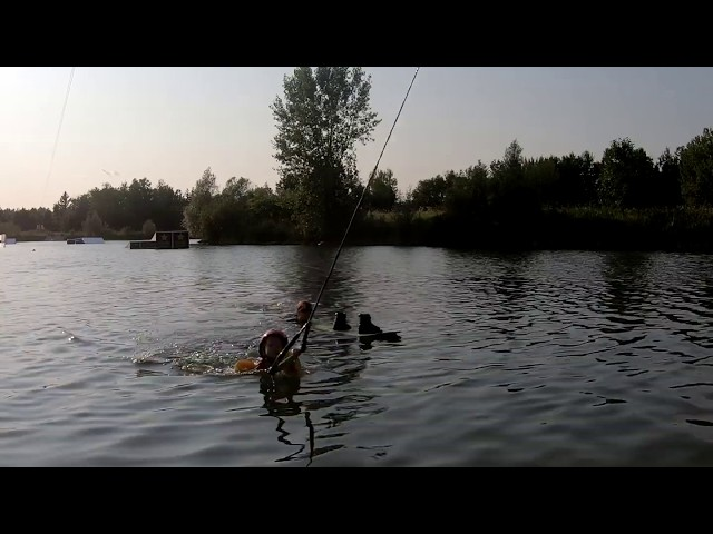 Kai's First Time Wakeboarding at 3 Years Old