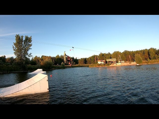 Dennis First Tantrum on a Wakeboard