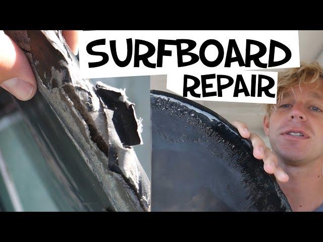 REPAIRING MY SURFBOARD