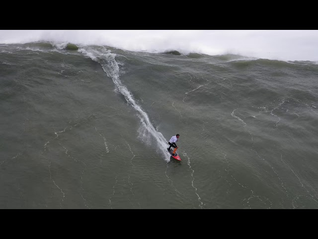 Surfing With Drones At Nazare November 12, 2019