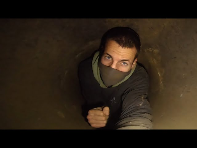 Crawling through an abandoned water pipeline