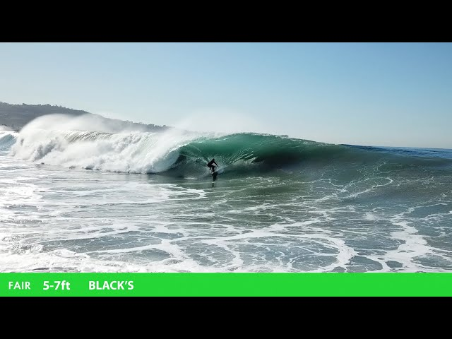 BLACK'S BEACH SURFING (5-7ft FAIR)