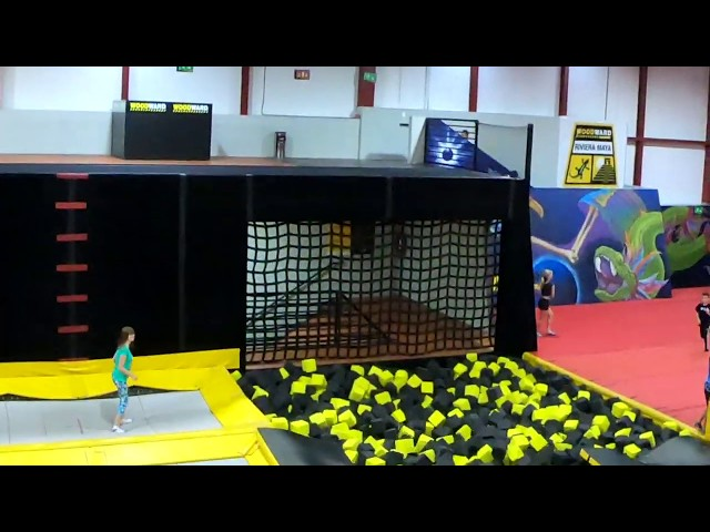 Fun in the Gymnastic Foam Pit at Woodward Riviera