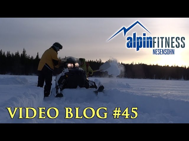 Snowmobile is Stuck in Lappland
