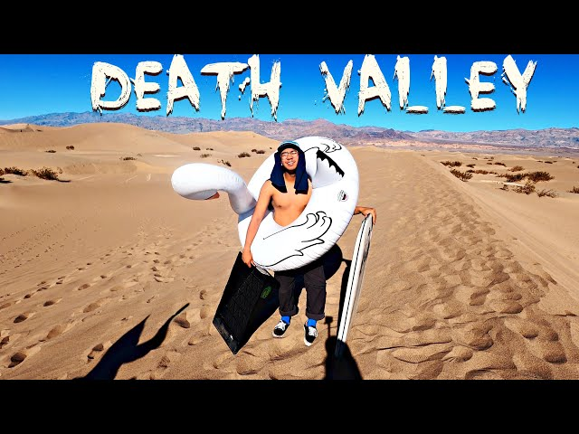 Sand boarding in Death Valley