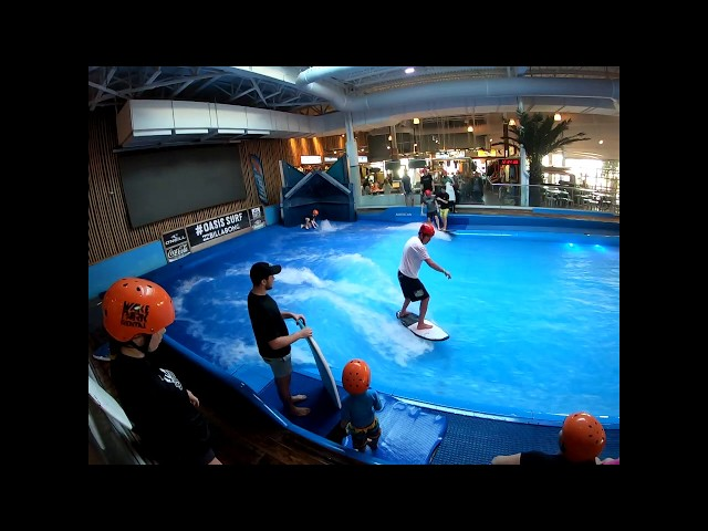 Andy Surfing at Oasis Surf in Montreal