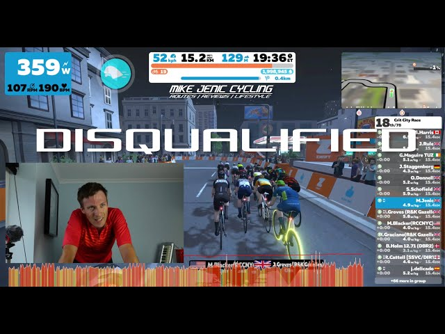 Disqualified from Zwift Race
