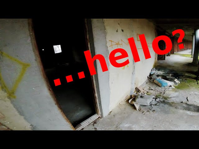 Funny encounter in an abandoned building
