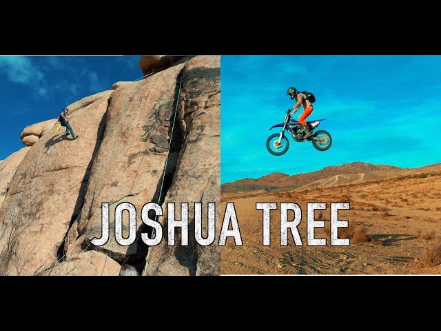 Joshua Tree Rock Climbing, Exploring & Dirtbiking