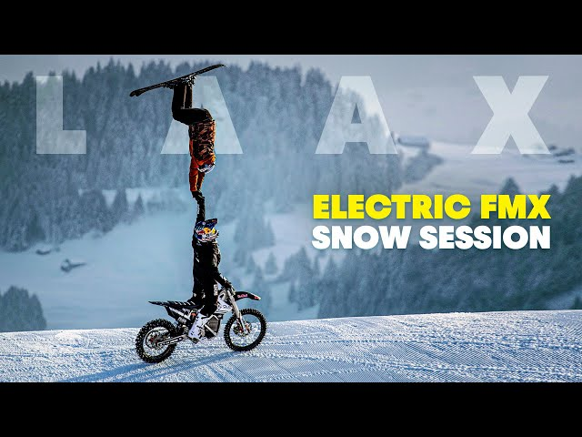 E-FMX Session in LAAX with Mat Rebeaud | SnoMX