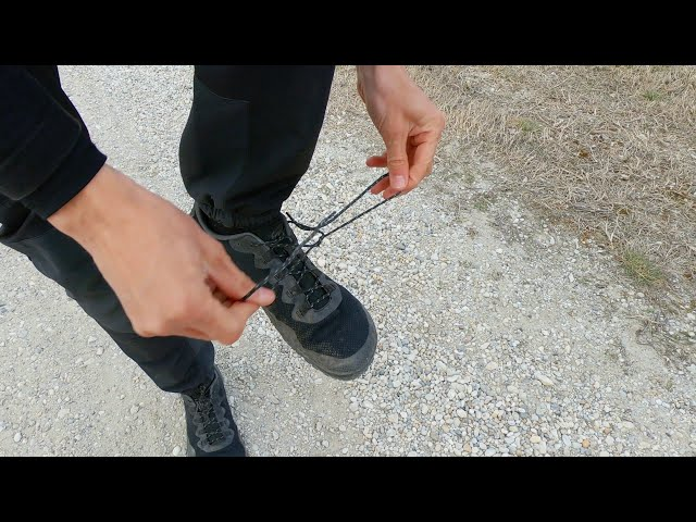 Tying your shoes while balancing on one leg...