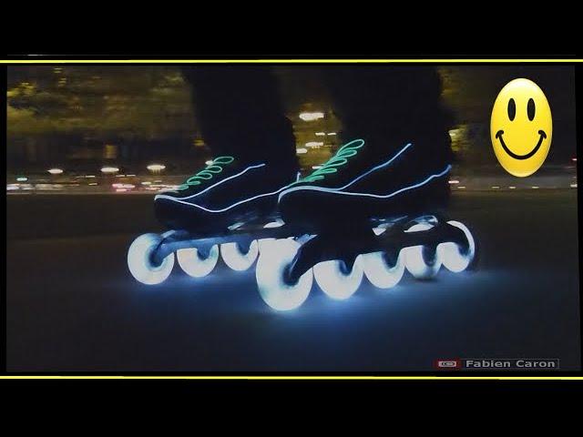 Inline Skates / Slackline Paris energy in the dark