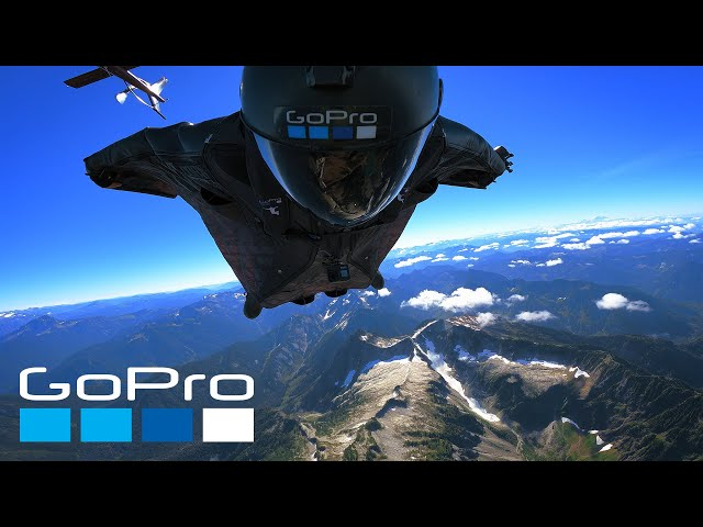 Scenic Mountain Wingsuit Flight