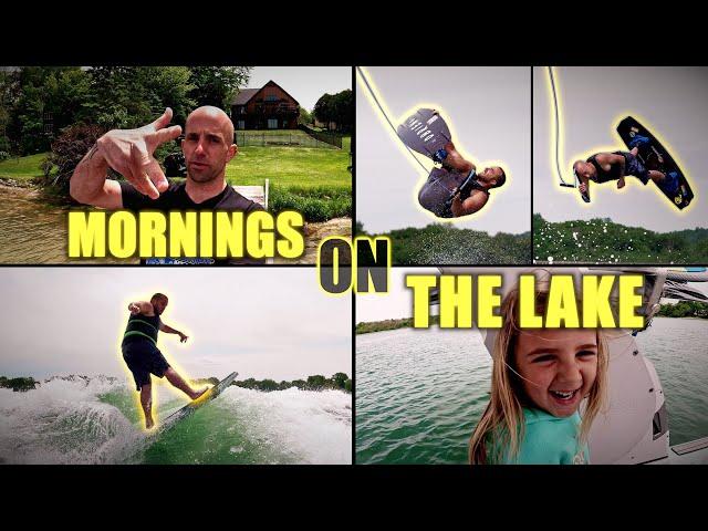 Mornings On The Lake | Raw WAKEBOARD + WAKESURF