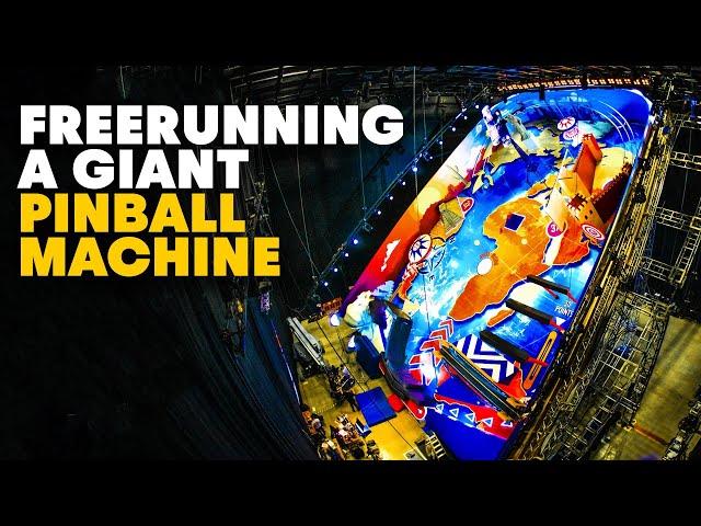 Pinball machine becomes freerunning playground